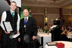 Barry Coughlan presenting Ross Henderson with the SPRA Studentship