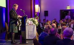 SPRA President David Barlow making his speeches.